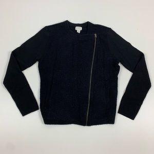 Calson Soft Zippered Long Sleeve Sweater
